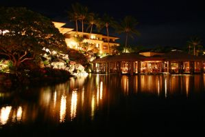 Grand Hyatt Kauai at Night by ace-of-finland