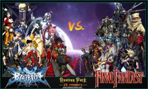 Blazblue VS Final Fantasy Pack by Troll-ish