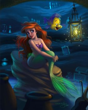 Little Mermaid Coloring Page by tony808
