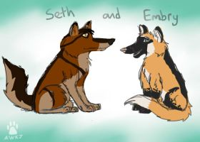 Seth and Embry by AlphaWolfKodijr
