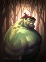 Hulk Fall by CreatureBox