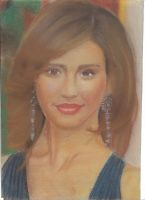 Jessica Alba Drawing by MsTemmii