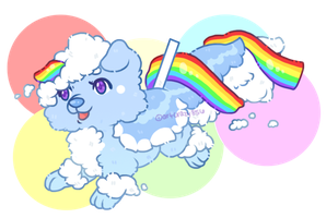 OTA with AB (CLOSED): Cloud and Rainbow Cake Pup by artcrazy856