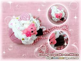 Candy Cupcake Necklace by Fluffntuff
