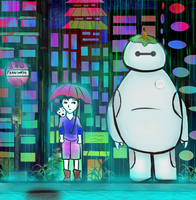 Collaboration: My Neighbor Baymax by vt2000