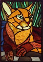 Stained Glass Abyssinian Cat by Oreobot
