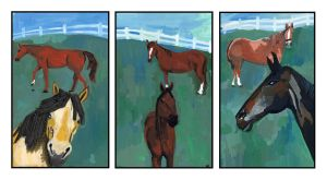 Horses tryptic by GANTart