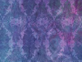 Purple Grunge Damask by R2krw9
