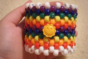 Rainbow Smilie Cuff by GangstaCakes