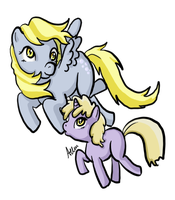 Ditzy and Dinky Doo by Aellos