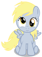 Filly Derpy Sittin' by Chubble-munch
