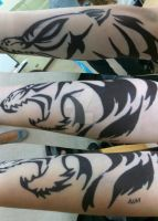 A Wolf on the Arm by GlassCatfish