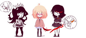Girls With Talking Body Parts And Red Swords by Azubelle