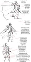 17th Century Batman sketches by vanillajester