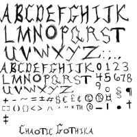 Chaotic Gothika Font by MissDarkCeltic18