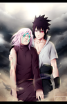 Naruto chapter 685 - Sakura and Sasuke by Kortrex