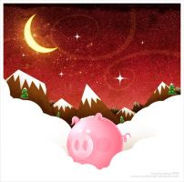 Winter Pig by dimpoart