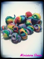 Rainbow Skulls by Ooh-A-piece-of-Candy