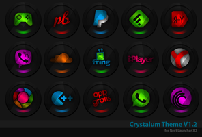 Next Launcher Theme Crystalum by Karsakoff
