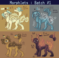 Morphlets Batch #1 [4/4 AVAILABLE] by weepysheep