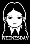 wednesday addams design for t shirt by xlostloonax