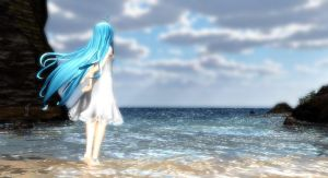 [MMD x Free!] Beach Time~ by LoverCathy