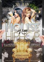 House VS Hip Hop Flyer Party by jellygraphics
