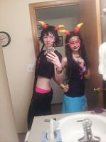 Feferi and Meenah Wip by strawberrymilkchan
