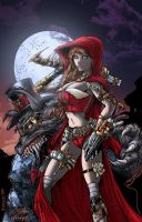 Steampunk Red by DontBornInInk