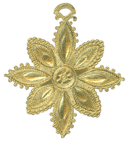German Dresden Gold Paper Medallion Ornament 10 by EveyD