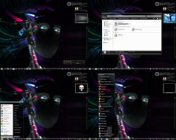 Black Tech Theme with IT-Face by wallybescotty