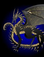 Black and Gold by awesomedarkdragon