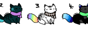 Scarf Kitties (CLOSED) by Neon-Spots-Adopts