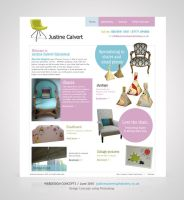 Webdesign for Justine Calvert by Amita-Gandhi