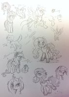 Pony Sketchdump by Jojuki-chan