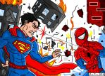 JoeProCEO's Superman Vs Spider-Man by JoeProCeo