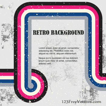 Retro Background Illustration by 123freevectors