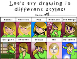 Different Styles Meme by Bananers97