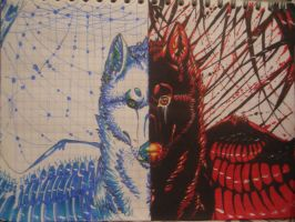 boredom at school 12 'Blue Life Red Death' by sidemoon