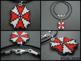 Handmade Seed Bead Resident Evil Necklace by Pixelosis