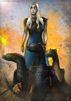 Daenerys Targaryen (Khaleesi)- Game of Thrones by MatthewHogben