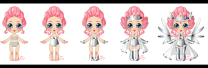 Space Queen Candyfloss Knuffel Design by nectaroustheine
