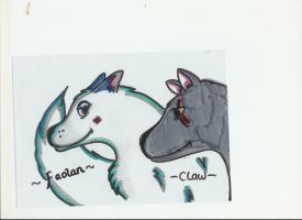 Faolan With Brother - Claw by RouxWolf