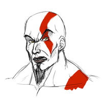 Kratos portrait by FanDragonBall
