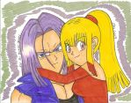 .:GIFT:.Trunks And Angel Rose by SONICJENNY