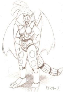 Dragondelle 2012 Sketch by RocMegamanX