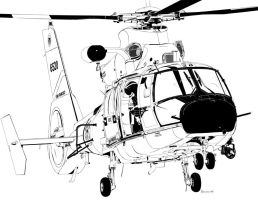 Eurocopter HH-65 Dolphin by bowdenja