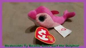 Mcdonalds Ty Beanie Boo Surf Dolphin! by Vesperwolfy87