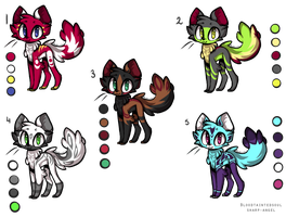 20 point Adoptables- 2 LEFT by sharp-angel