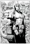 hellboy black and white cover by WestStudio3